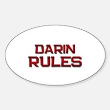 darin rules Oval Decal