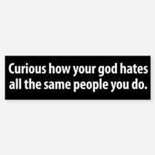 God Hates bumper sticker