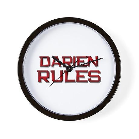 darien rules Wall Clock