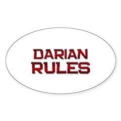 darian rules Oval Decal