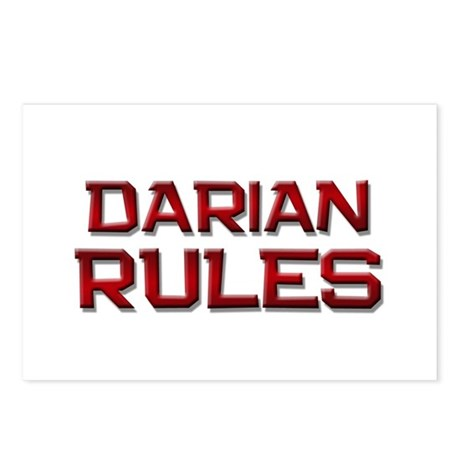 darian rules Postcards (Package of 8)