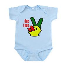 Peace Rasta Infant Bodysuit