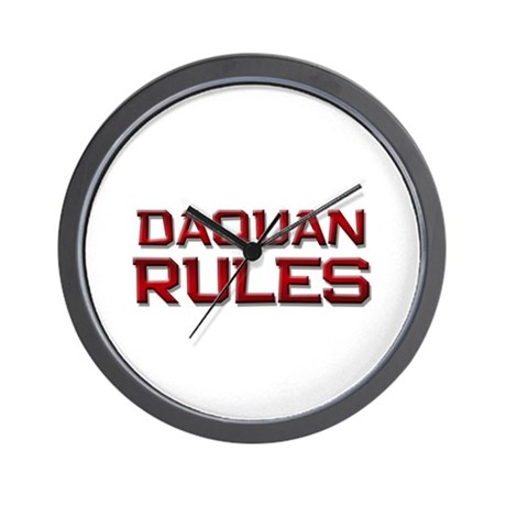 daquan rules Wall Clock