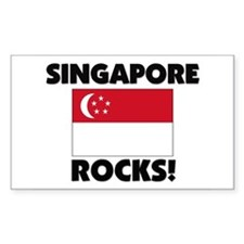 Singapore Rocks Rectangle Decal