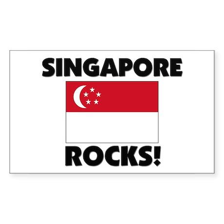 Singapore Rocks Rectangle Sticker