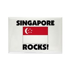 Singapore Rocks Rectangle Magnet