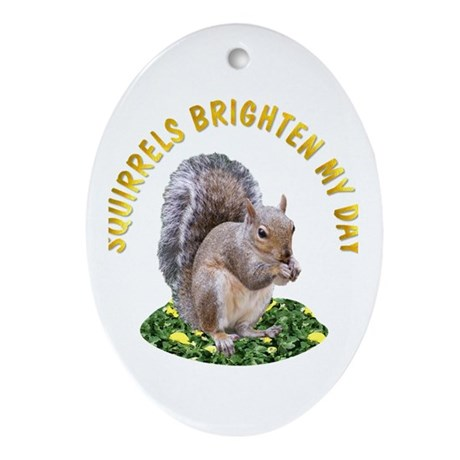Squirrels Oval Ornament