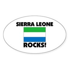 Sierra Leone Rocks Oval Decal