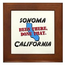 sonoma california - been there, done that Framed T