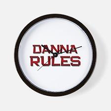 danna rules Wall Clock
