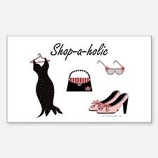 Shop-a-holic Rectangle Decal