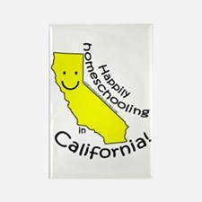 Happy in CA Rectangle Magnet