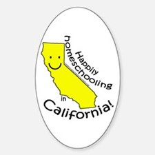 Happy in CA Oval Decal