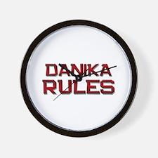 danika rules Wall Clock