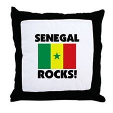 Senegal Rocks Throw Pillow