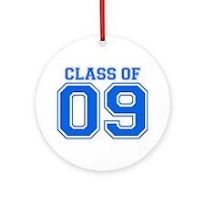 Class Of 09 (Blue Varsity) Ornament (Round)