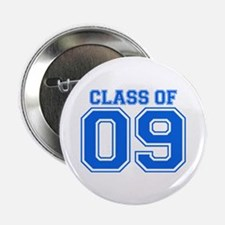 "Class Of 09 (Blue Varsity) 2.25"" Button (10 pack)"