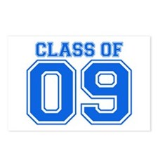 Class Of 09 (Blue Varsity) Postcards (Package of 8
