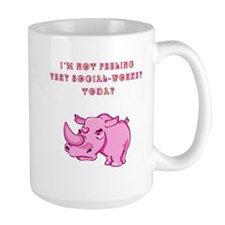 Not social-workey in pink Ceramic Mugs