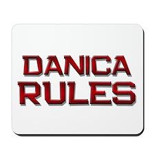 danica rules Mousepad
