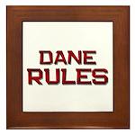 dane rules Framed Tile