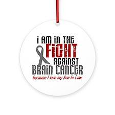 In The Fight Son-In-Law Brain Cancer Ornament (Rou