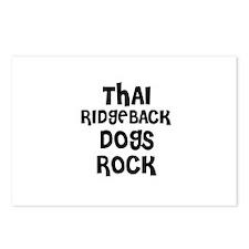 THAI RIDGEBACK DOGS ROCK Postcards (Package of 8)