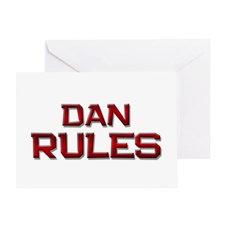 dan rules Greeting Card