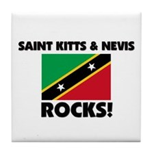 Saint Kitts & Nevis Rocks Tile Coaster