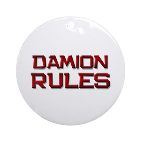 damion rules Ornament (Round)