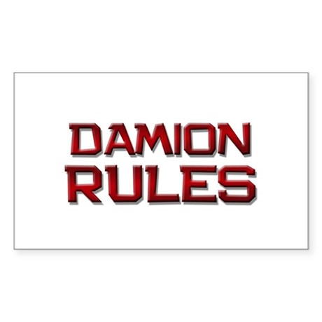 damion rules Rectangle Sticker