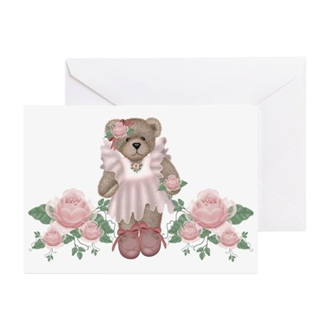 Beary Rosy Greeting Cards (Pk of 10)