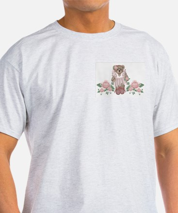 Beary Rosy Ash Grey T-Shirt