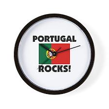 Portugal Rocks Wall Clock
