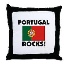 Portugal Rocks Throw Pillow