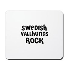 SWEDISH VALLHUNDS ROCK Mousepad
