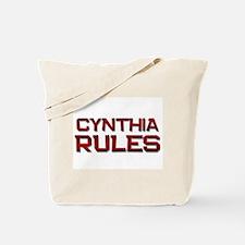 cynthia rules Tote Bag