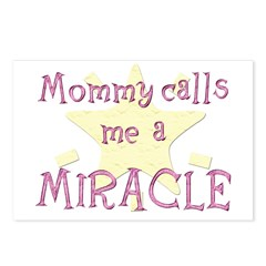 Mommy calls me a Miracle Postcards (Package of 8)