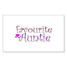 Favourite Auntie Rectangle Sticker 10 pk)
