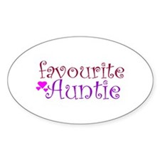 Favourite Auntie Oval Decal