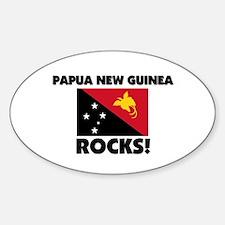 Papua New Guinea Rocks Oval Decal