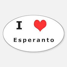 I love esperanto Oval Decal