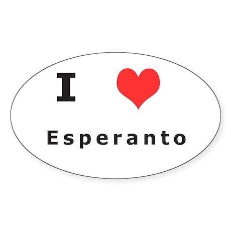 I love esperanto Oval Sticker