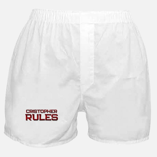 cristopher rules Boxer Shorts