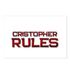 cristopher rules Postcards (Package of 8)