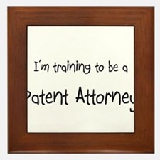 I'm training to be a Patent Attorney Framed Tile