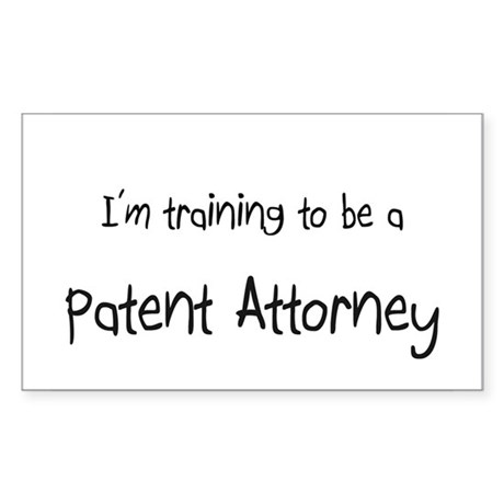 I'm training to be a Patent Attorney Sticker (Rect