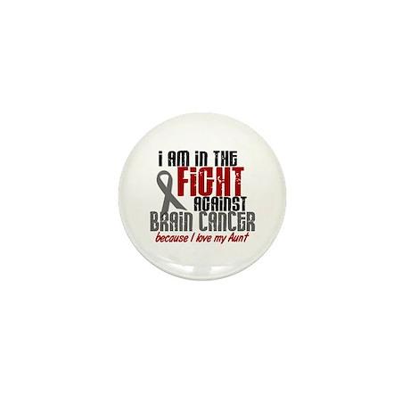 In The Fight AUNT Brain Cancer Mini Button