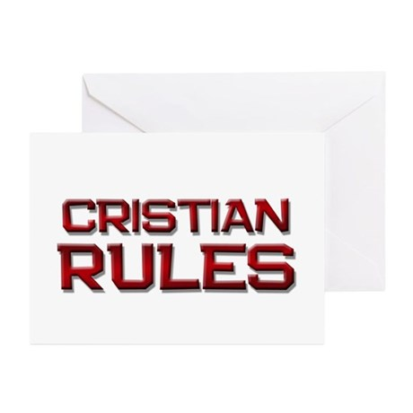 cristian rules Greeting Cards (Pk of 20)
