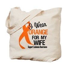 I Wear Orange Ribbon Tote Bag